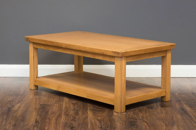 Manhattan - Coffee Table - Oak - Open Shelf