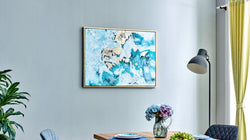 Elle Greens Splash Hand Painted Wall Art