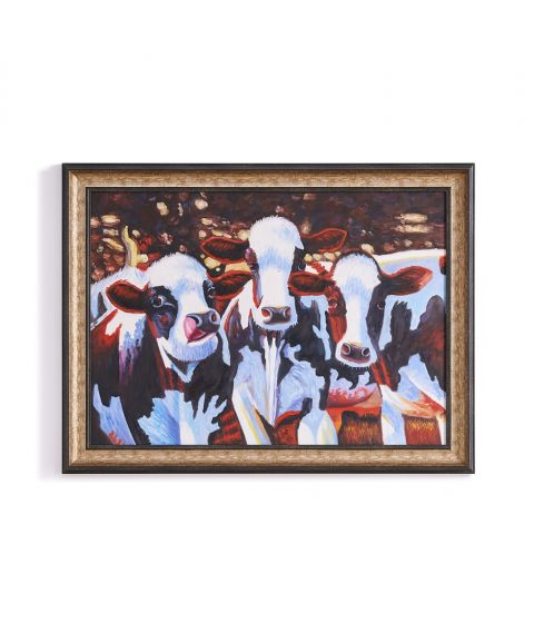 The Holstein Ladies Hand Painted Wall Art