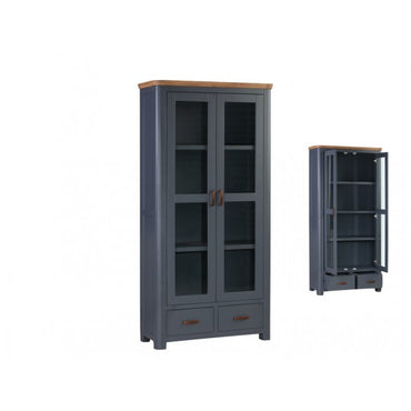 Treviso Midnight Blue Display Cabinet