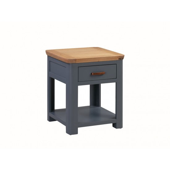Treviso Midnight Blue End Table with Drawer