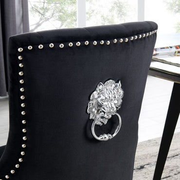 Lion Chair - Black Velvet