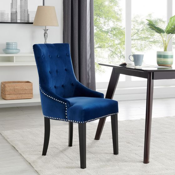 Lion Chair - Blue Velvet