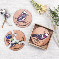 Australian Birds Jigsaw Set
