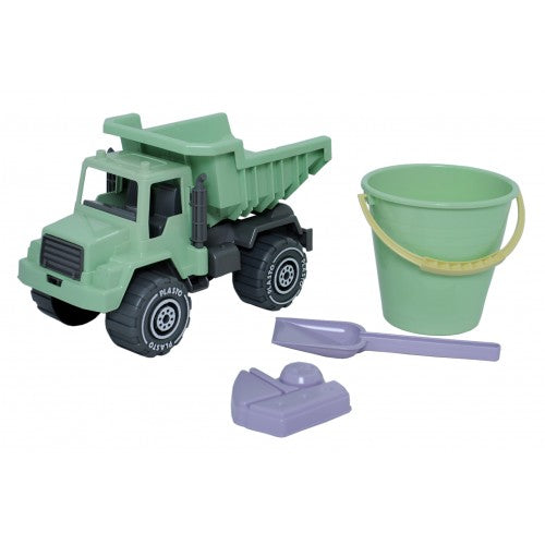 "Plasto ""I AM GREEN"" Sand Set with Tipper Truck, 4 pieces"