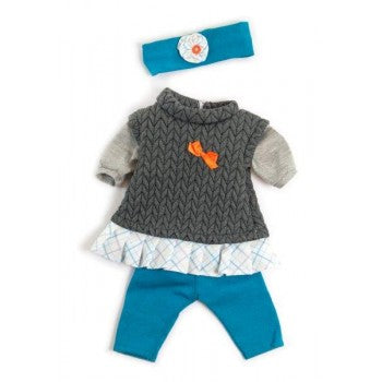Miniland Clothing Grey Spring Set (38-42cm Doll)