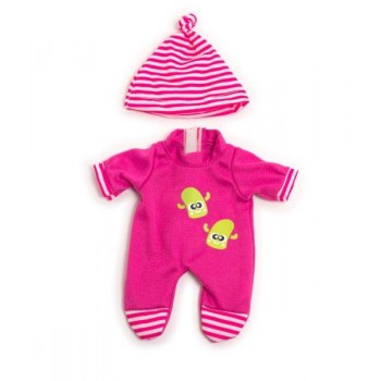 Miniland Clothing Pink Winter Pyjamas Set (21cm Doll)
