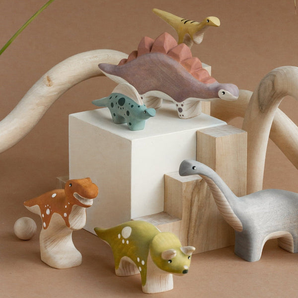 Wooden Dinosaurs || Set of 6 || PREORDER