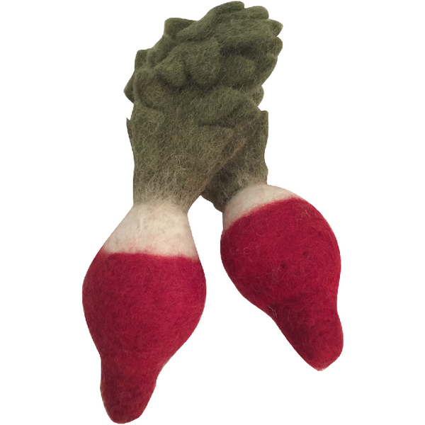 Papoose Felt Food // Red Radish Set of 2