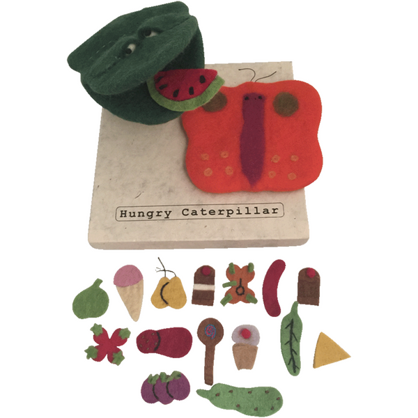 Papoose // Hungry Caterpillar Felt Story Puppet