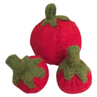 Papoose Felt Food //  Tomatoes Set of 3