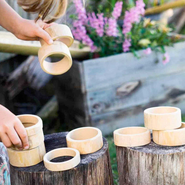 Explore Nook Natural Bamboo Building Rings