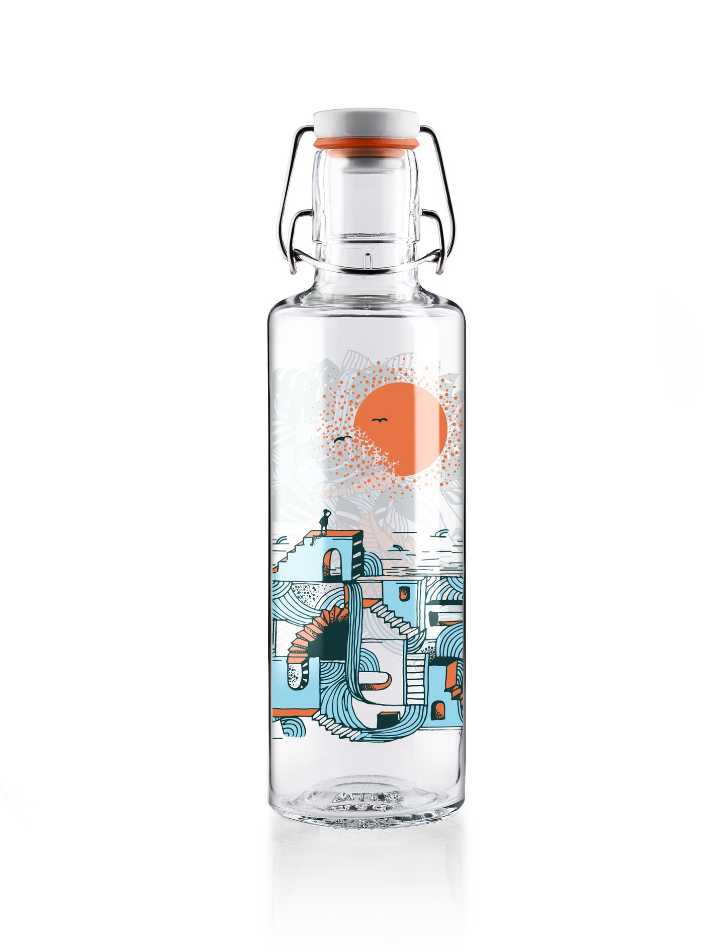 Soulbottle waterfall city 0,6l Glasflasche