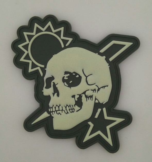 Velcro Patch - Scroll Skull DUI