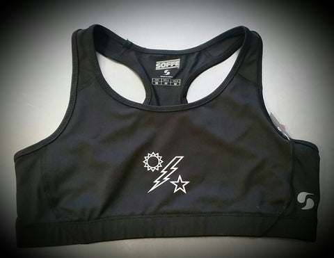 Ladies - Black Sports Bra DUI