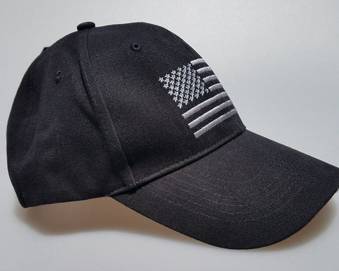 Hat - Rothco Black American Flag
