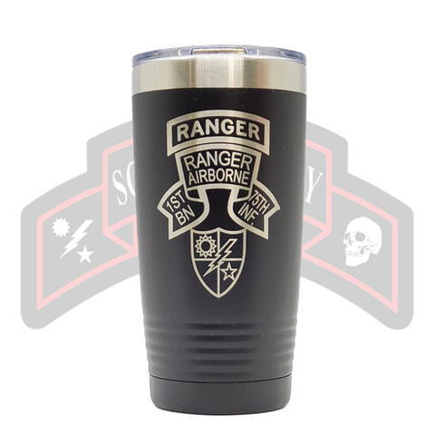 Tumbler - 1st Ranger Bn Old Scroll
