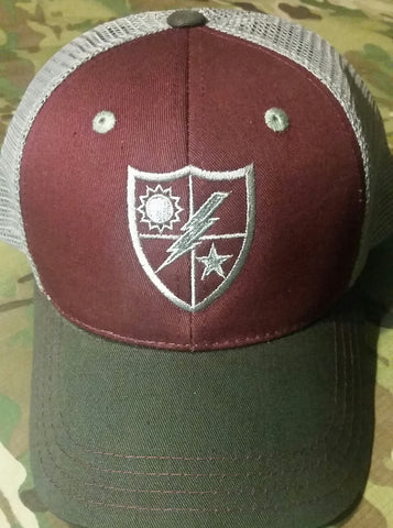 Hat - DUI Shield Burgundy Trucker
