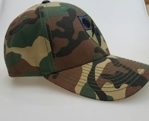 Hat - 75th DUI Shield Woodland - Structured Cap