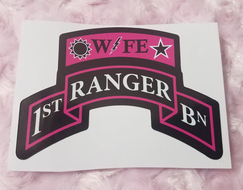 Sticker - Ranger Wife Scroll