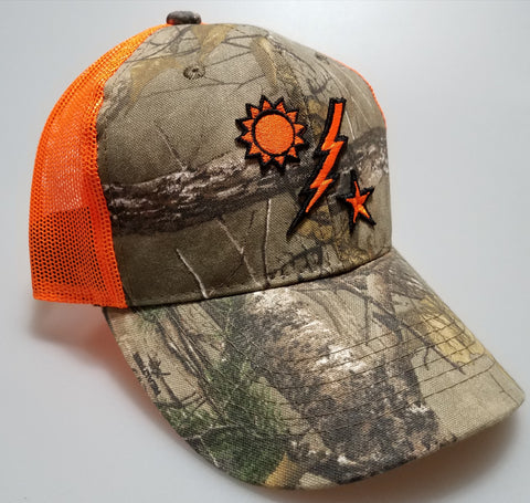 Hat - Realtree xtra 75th DUI Raised Outline Camo with Orange Mesh