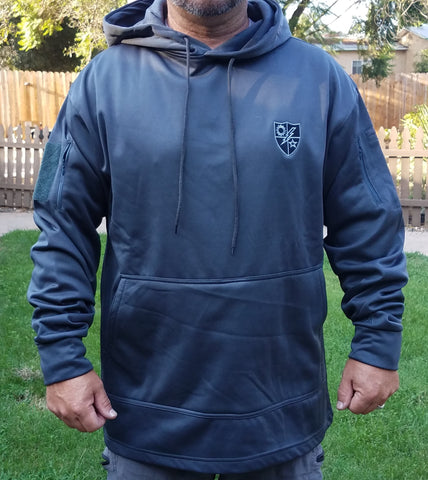 Gun Metal Grey 75th DUI Shield Conceal Carry Hoodie