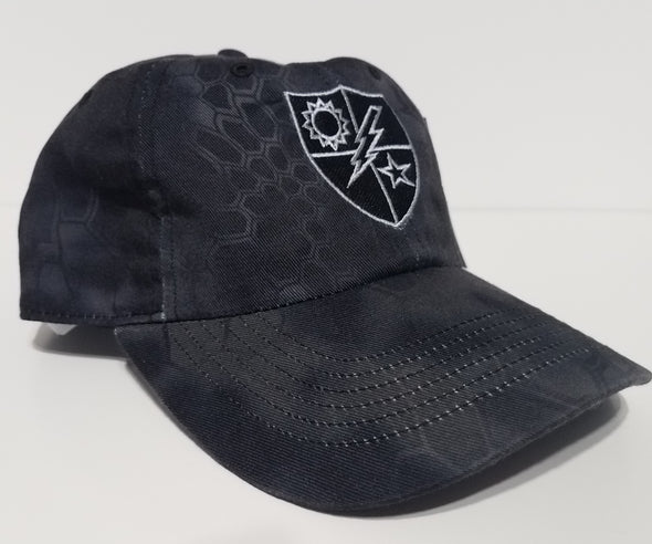 Hat - Black and Silver 75th DUI Shield