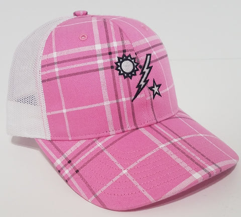 Hat - Ladies Pink Plaid DUI