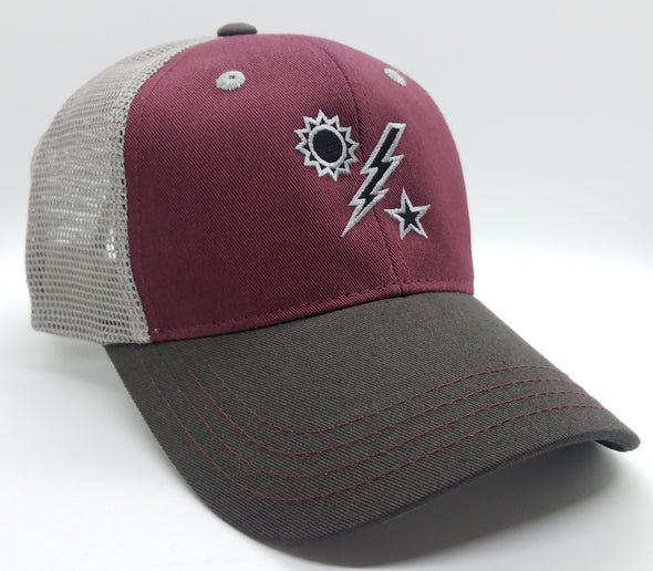Hat - DUI Burgundy Trucker