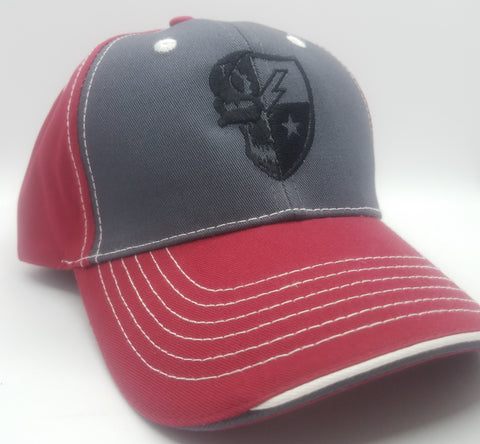 Hat - Skull DUI Ball Cap - Red /Charcoal