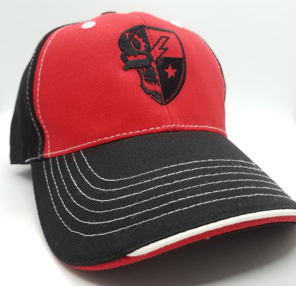 Hat - Skull DUI Ball Cap - Black / Red