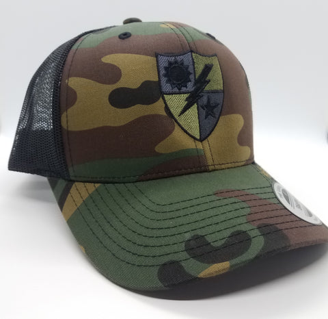Hat - 75th DUI Shield Woodland Trucker