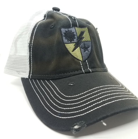 Hat - 75th DUI Shield Black Weathered Trucker