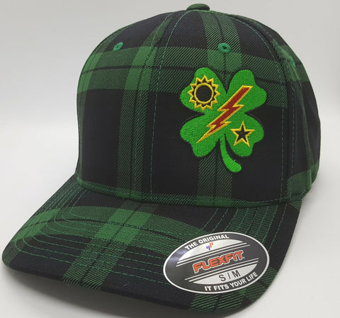 Hat - FlexFit Plaid 75th DUI Clover