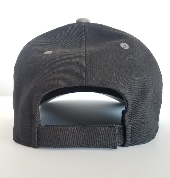 Hat - Flexfit 75th DUI Outline Black with Grey bill