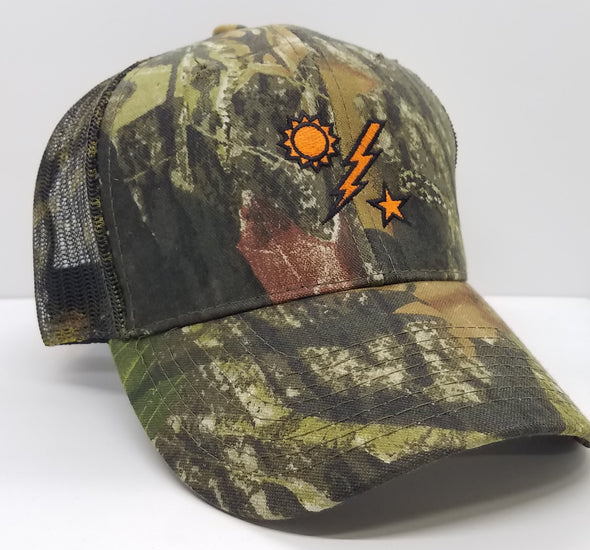 Hat - Mossy Oak Trucker Blaze Orange DUI