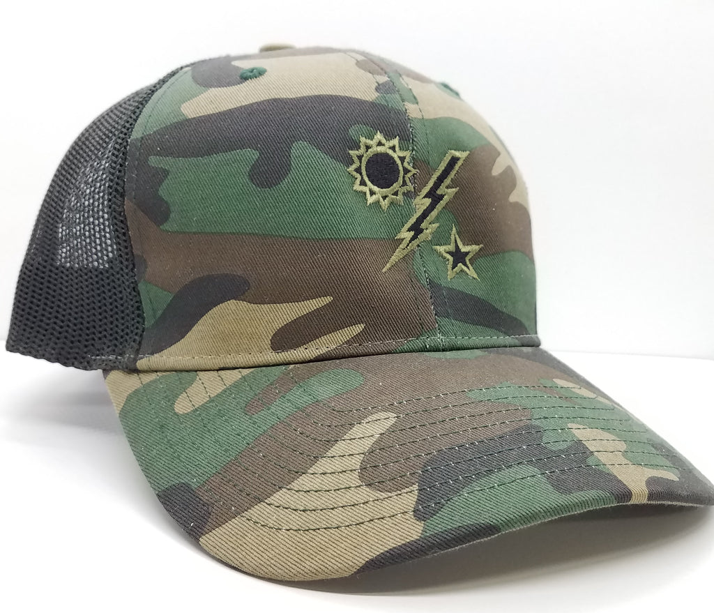Hat - 75th DUI Outline Richardson Woodland Trucker – Scroll Factory 92ed659ca4a5
