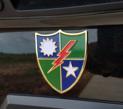 75th DUI Metal Emblem