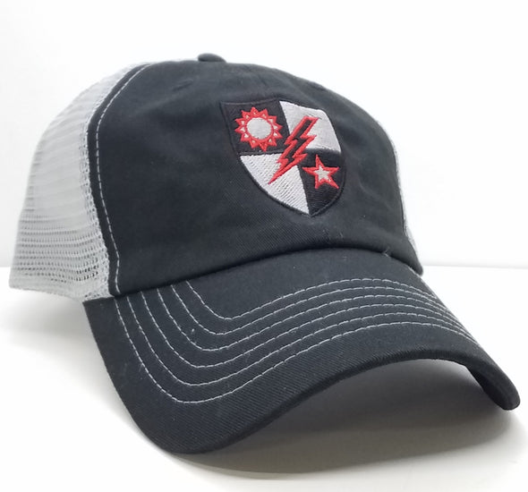 Hat - 75th DUI Blood Shield Black Trucker