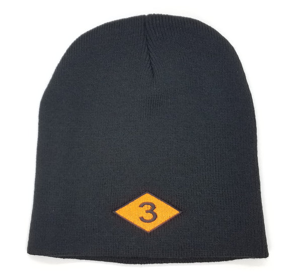 3 Diamond Beanie Back Order
