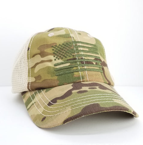 Hat - Rothco Multicam Mesh Flag