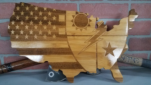 Wood - USA Flag