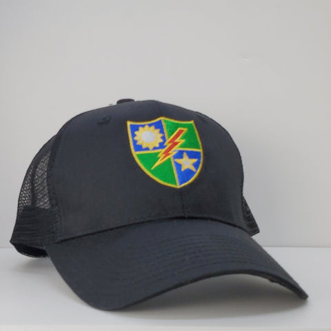 Hat - Black 75th DUI Shield Trucker