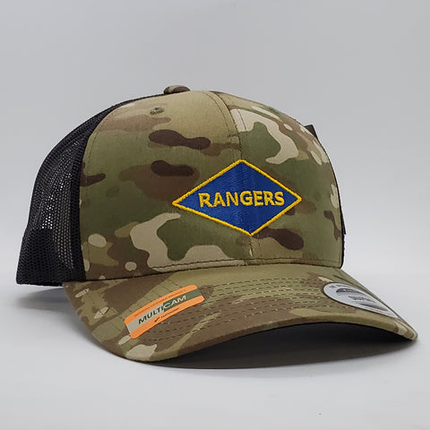 Rangers WWII Diamond Multicam hat