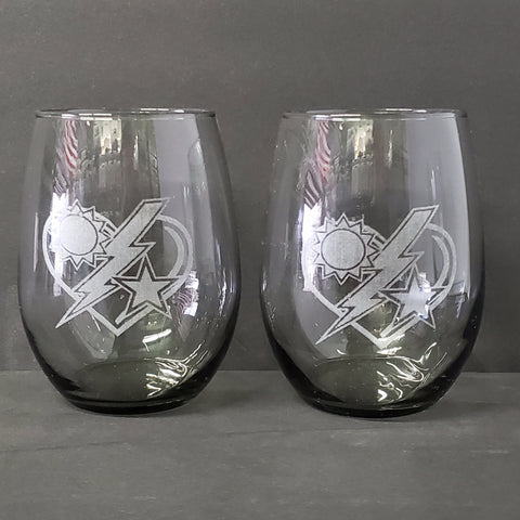 20oz Stemless Wine Glass - 75th DUI Heart