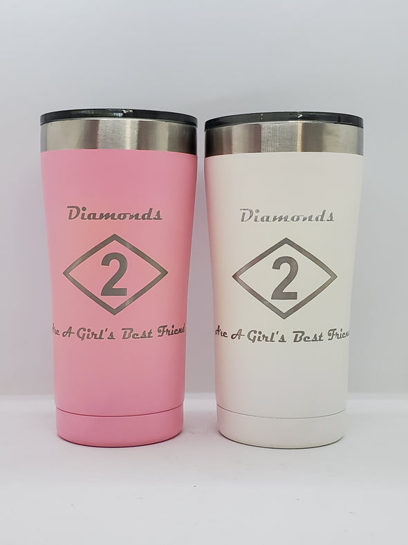 Tumbler - Diamonds are a Girl's best friend
