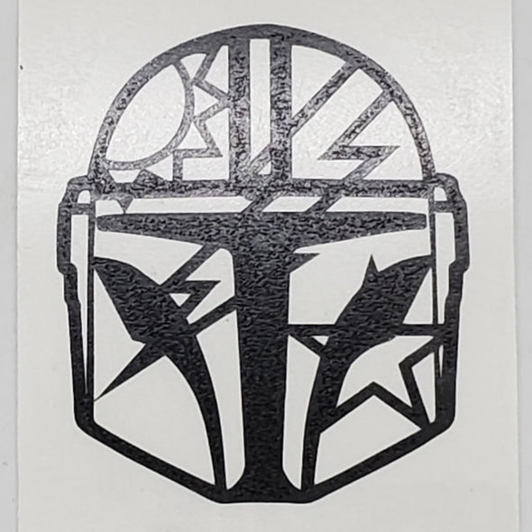 Sticker- Mandalorian 75th DUI Helmet