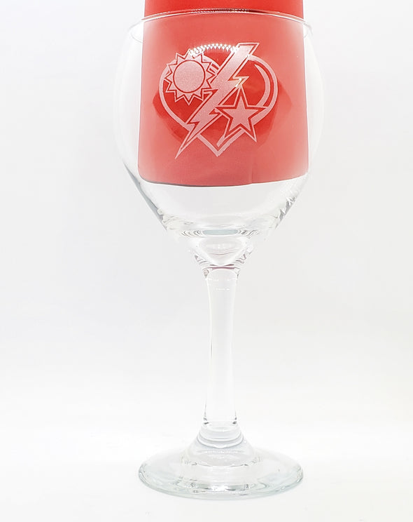 Wine Glass - 75th DUI Heart