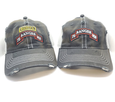 Hat - RMIB Black Weathered Trucker