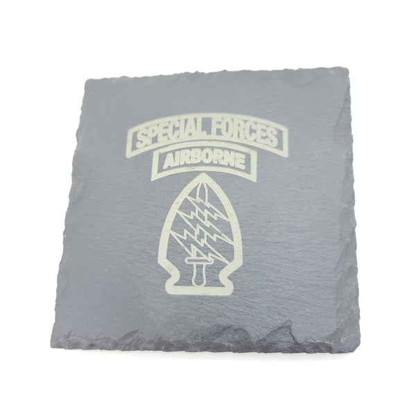 Slate Coaster - Special Forces unit patch